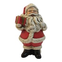 Santa with Present and Sack of Toys RB Japan Mid Century Vintage Paper Mache Christmas Papier