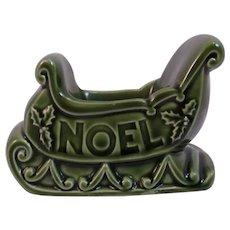 1960s Hallmark Noel Christmas Sleigh Candle Holder Vintage Mid Century