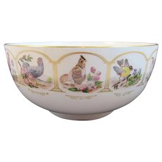 Boehm Birds and Flowers of the Original 13 States Bowl for 200th Anniversary of the US Constitution 1787 - 1987 American Eagle
