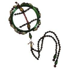 11 Inch Czech Glass Bead Christmas Tree Ornament