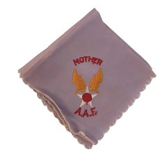 WWII USAAF US Army Air Force Mother Hanky Embroidered Embroidery