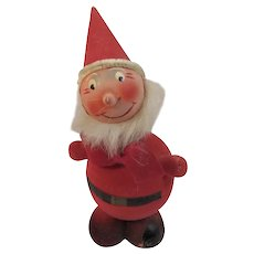 West German Gnome Elf Nodder Candy Container Western Germany Vintage Flocked