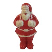 Large Irwin Santa Hard Plastic Candy Container 6 & 1/2 Inch