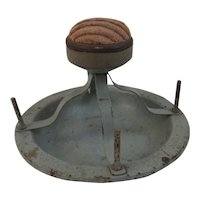 Vintage Metal Spool Holder with Pincushion Top Pin Cushion Farmhouse Decor