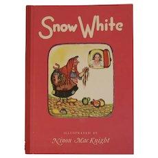 1946 Snow White Ninon MacKnight Illustrated And the Seven Dwarves Dwarfs Fairy Tale Children's Book