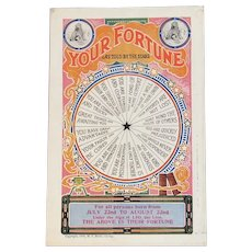 1908 Leo Zodiac Your Fortune As Told by the Stars Telling Postcard MJ Mintz