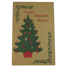 1971 Colonial Holiday Treats Cookbook Cook Book Christmas Vintage