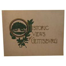 c 1930s Historic Views of Gettysburg Civil War Battlefield Monuments and Town Book by Robert C Miller