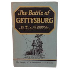 1938 The Battle of Gettysburg by WC Storrick The Country Contestants and Results Book
