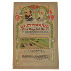 1954 Gettysburg What they Did Here Guide Book With Maps and Illustrations LW Minnigh Civil War Battlefield Book