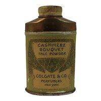 Mini Colgate Cashmere Bouquet Tin Talc Powder Miniature Travel Sample Size