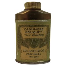 Mini Colgate Cashmere Bouquet Tin Talc Powder Miniature Travel Sample Size