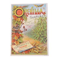 Orchilla Guano AA Fertilizer Trade Card Victorian Advertising Wooldridge & Co Baltimore Butterfly Bird Nest Corn and Fall Leaves