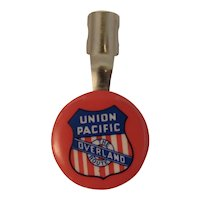 Union Pacific Overland Route Celluloid Pencil Pen Topper