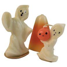 Gurley Ghosts and a Candy Corn Candle Vintage Halloween