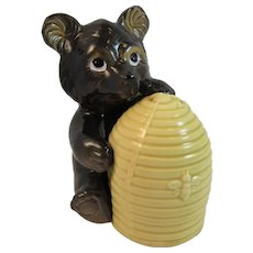 Vintage Bear and Bee Hive Salt and Pepper Shaker Set