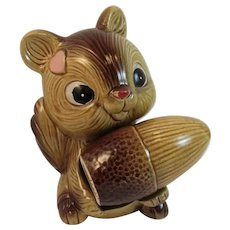 Vintage Squirrel and Acorn Salt and Pepper Shaker