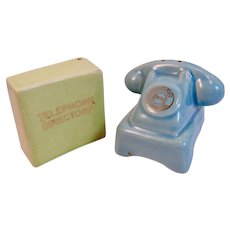 Arcadia Ceramics Telephone and Directory Salt and Pepper Shakers