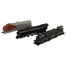 3 Hallmark Lionel Locomotives Die Cast Trains Christmas Ornaments