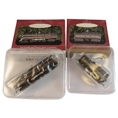 Vintage Die Cast Lionel 746 Norfolk and Western Steam Locomotive and Tender Christmas Ornaments by Hallmark