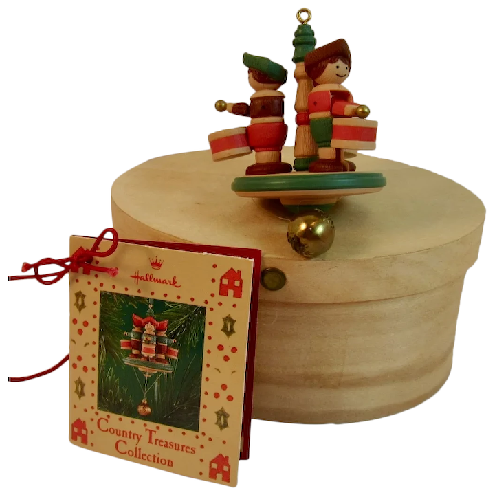 Shaker Woods Christmas In The Woods.Hallmark Little Drummers Country Treasures Christmas Ornament In Shaker Box Circa 1986
