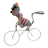 Vintage Annalee Mobilitee Doll Mouse on Bike Circa 1971 Meredith, New Hampshire