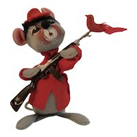 Vintage Annalee Mobilitee Doll Mouse Dressed as a Hunter Circa 1971 Meredith, New Hampshire