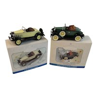 2 Hallmark Die Cast Roadsters Keepsake Christmas Ornaments Collector's Series Don Palmiter Ford Model A Chevrolet Roadster