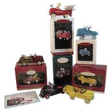 5 Hallmark Kiddie Car Classics Keepsake Christmas Ornaments Murray Garton