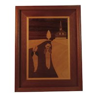 Vintage Marquetry School Boys Hand Made by Eric Erstling
