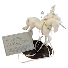 1986 Hallmark Magical Unicorn Hand Painted Limited Edition Keepsake Christmas Ornament
