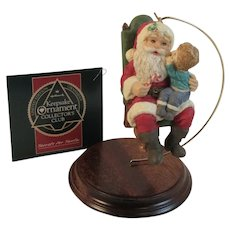 Hallmark 1991 Secrets for Santa Limited Edition Collectors Club Christmas Ornament