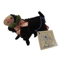 1996 Annalee Black Lamb or Sheep Vintage Christmas