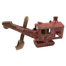 Vintage Hubley 1562 Cast Iron Toy Steam Shovel