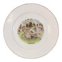 German Gettysburg Devil's Den Ledge Battlefield Souvenir Porcelain Plate by J & C of Bavaria Devils Pennsylvania
