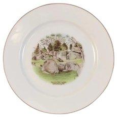 German Gettysburg Devil's Den Ledge Battlefield Souvenir Porcelain Plate by J & C of Bavaria Devils Pennsylvania