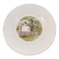 German Gettysburg General Meade's Headquarters Battlefield Souvenir Porcelain Plate by GHB Co of Bavaria Gen'l