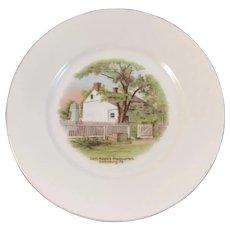 German Gettysburg General Meade's Headquarters Battlefield Souvenir Porcelain Plate by GHB Co of Bavaria Gen'l