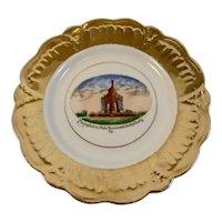 German Gettysburg Pennsylvania State Monument Battlefield Souvenir Porcelain Plate Jonroth Hand Painted Germany Civil War