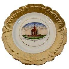 German Gettysburg Pennsylvania State Monument Battlefield Souvenir Porcelain Plate Jonroth Hand Painted Germany