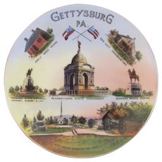 German Gettysburg PA Battlefield Monuments and Sites Plate Jaeger & CO Bavaria 1925 to 1945