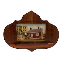 Jennie Wade Wood Towel Rack Souvenir Gettysburg PA Civilian Killed During the Civil War Battle