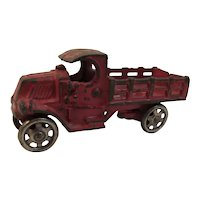 Vintage 1930s AC Williams Cast Iron Toy Mack Cab Stake Truck