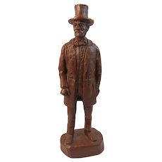 Red Mill Abraham Lincoln Statue Honest Abe President Civil War Era Pose Mfg Co Vintage Pecan Shells RM Chastain 1997
