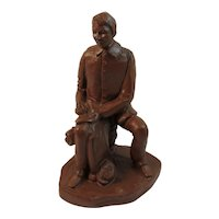 Red Mill Union Bugle Boy Statue Letter Home Civil War Mfg Co Vintage Pecan Shells RM Chastain 1997 493
