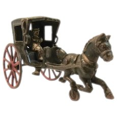 Vintage Hubley Horse Drawn Buggy with Driver