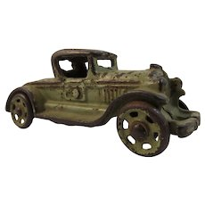 Vintage AC Williams Green Cast Iron Coupe Car