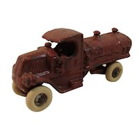 Vintage AC Williams Cast Iron Gasoline Tanker Toy
