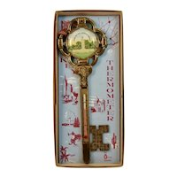 Gettysburg Key Thermometer in Original Box Eternal Light Peace Memorial Souvenir Civil War
