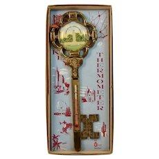 Gettysburg Key Thermometer in Original Box Eternal Light Peace Memorial Souvenir Civil War